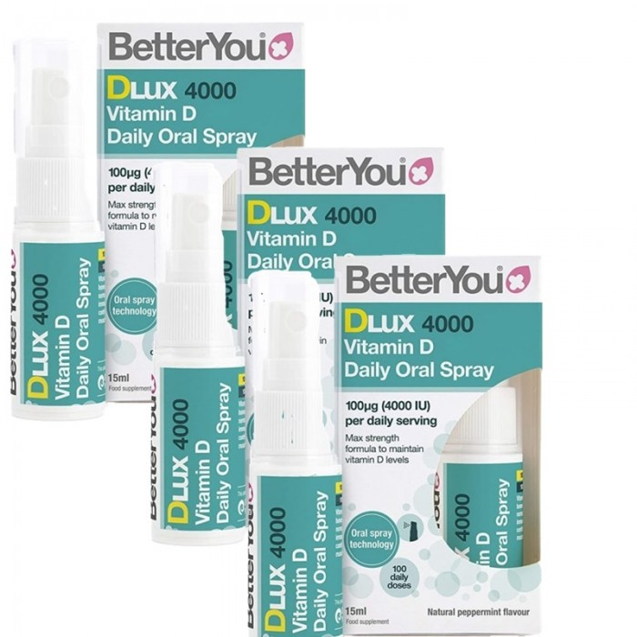 Economy Pack 3 x DLux 4000 ui (15 ml), BetterYou
