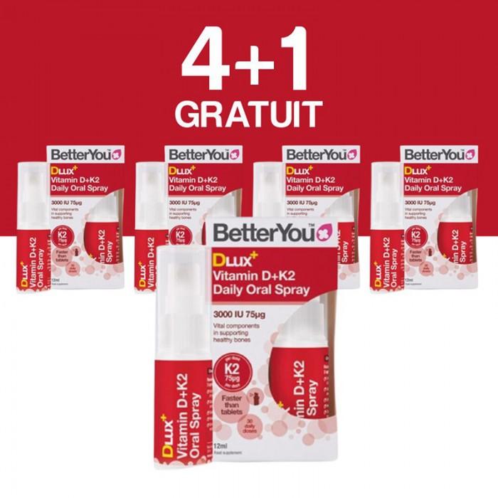 DLux+ Vitamin D3+K2 Oral Spray (12ml), BetterYou 4+1 Gratuit