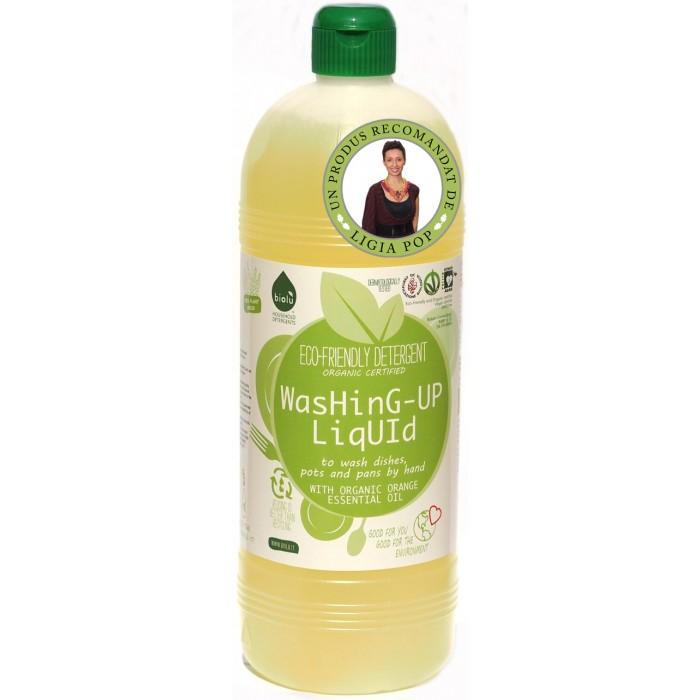 Detergent ecologic pentru spalat vase, Biolu (1 litru)