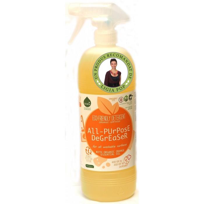 Detergent ecologic pentru toate suprafetele cu ulei de portocale, Biolu (1 litru)