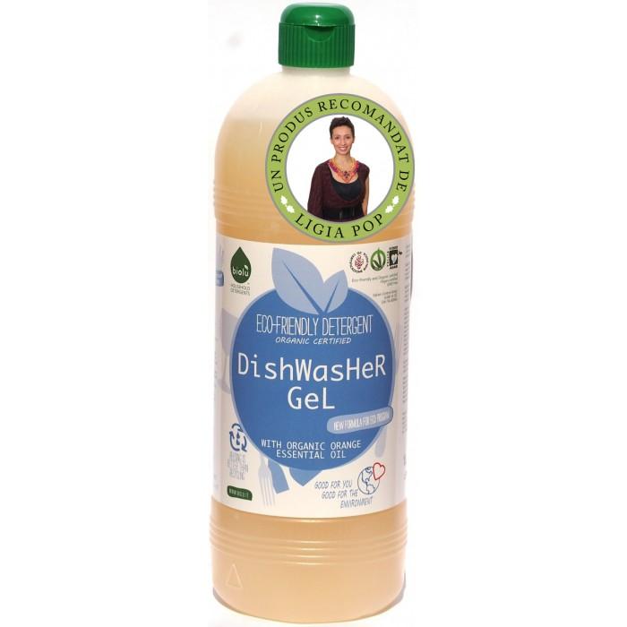 Gel pentru spalat vase ecologic, pentru masina de spalat vase, Biolu (1L)