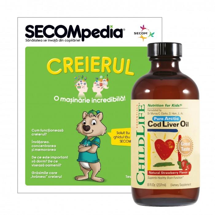 Cod Liver Oil 237ml (gust de capsuni)