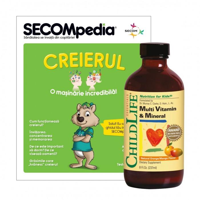 Multi Vitamin and Mineral (237ml)  (gust de portocale/mango), Childlife