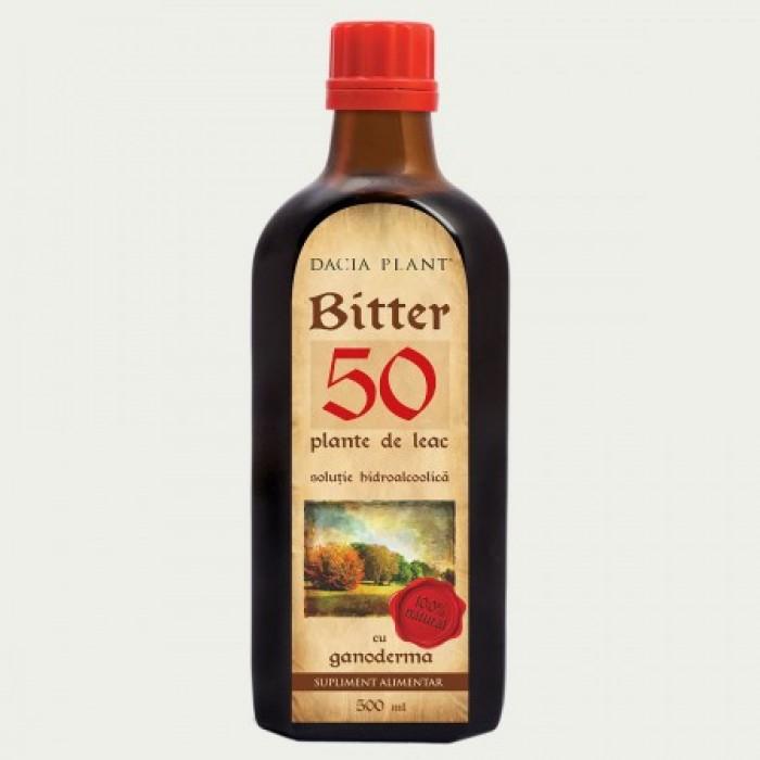 Bitter 50 Plante cu Ganoderma (500 ml), Dacia Plant