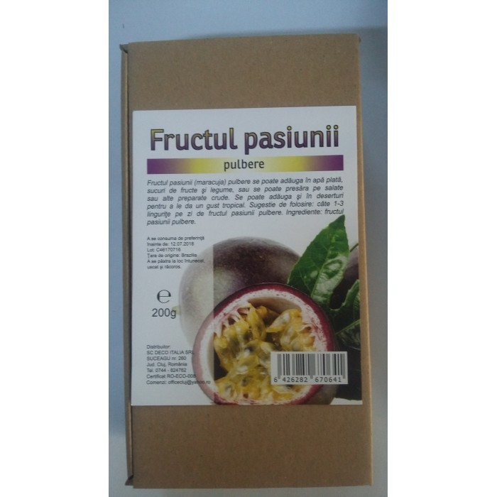 Fructul pasiunii pulbere (200 grame)