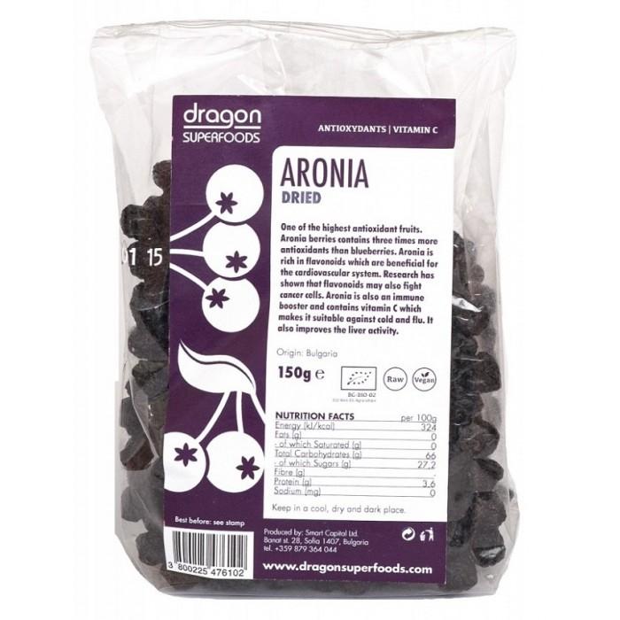 Aronia fructe uscate raw bio (150g)