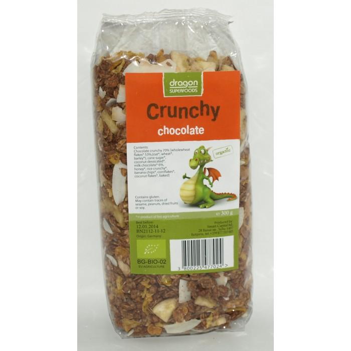 Crunchy cu ciocolata bio (300 grame)