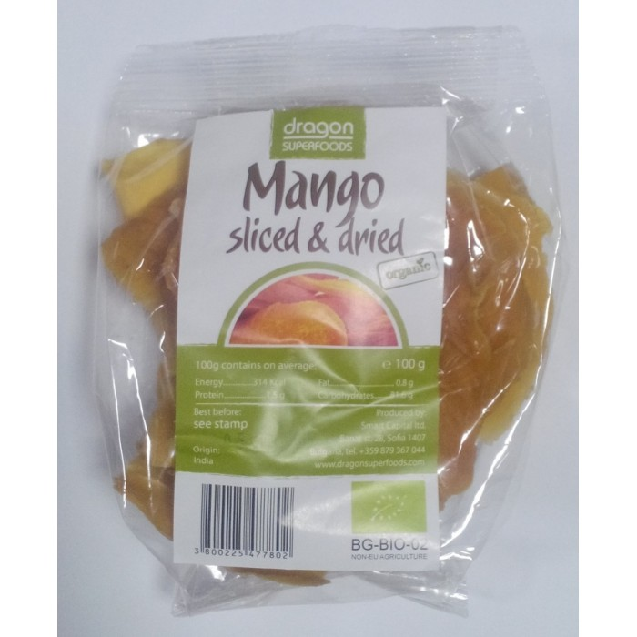 Mango uscat felii bio (100g)