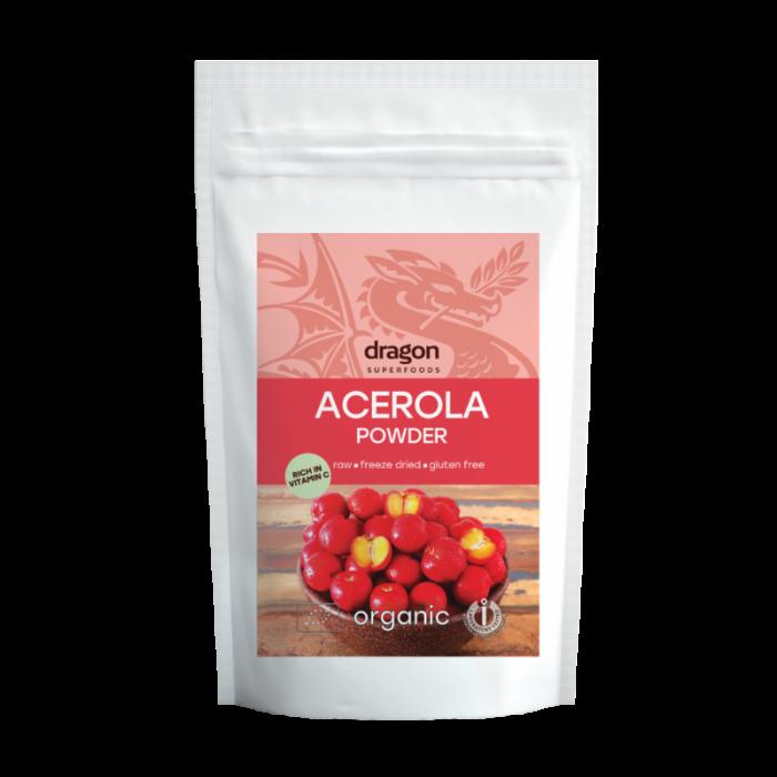 Pulbere de acerola raw bio (75 grame)