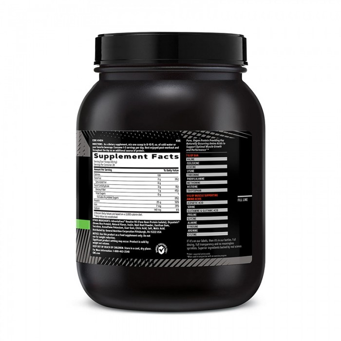 AMP Plant Isolate Proteina vegetala cu aroma de capsuni si banane (935,2 grame), GNC