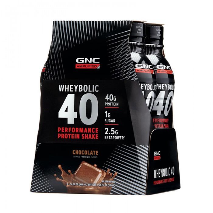 AMP Wheybolic 40 Shake proteic cu aroma de ciocolata (414 ml), GNC