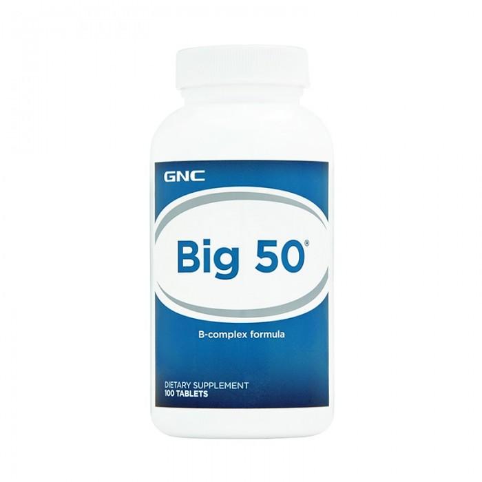 Big 50 Complex de vitamine B (100 tablete), GNC