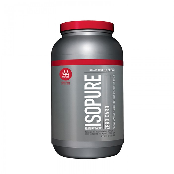 Isopure Zero Carb Proteina cu aroma de crema de capsuni (1360 grame), GNC