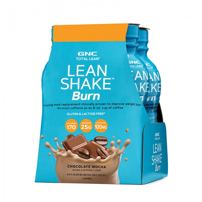 Lean Shake BURN cu aroma de ciocolata si cafea RTD (414 ml), GNC Total Lean