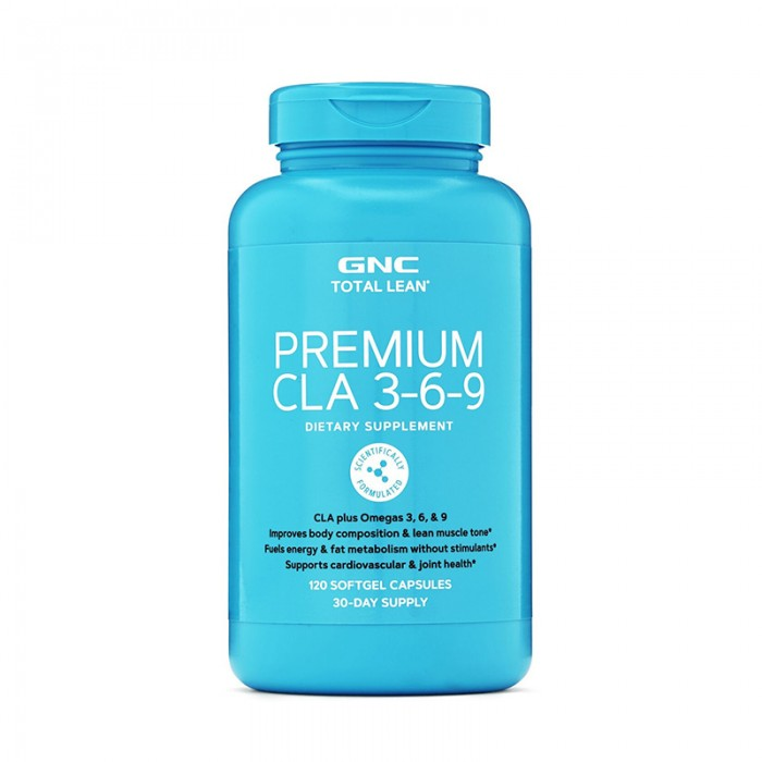 Premium CLA si Omega 3-6-9 (120 capsule), GNC Total Lean