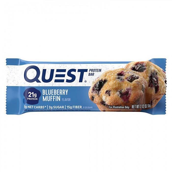 Quest Baton proteic cu aroma de briose cu afine (60 grame), GNC