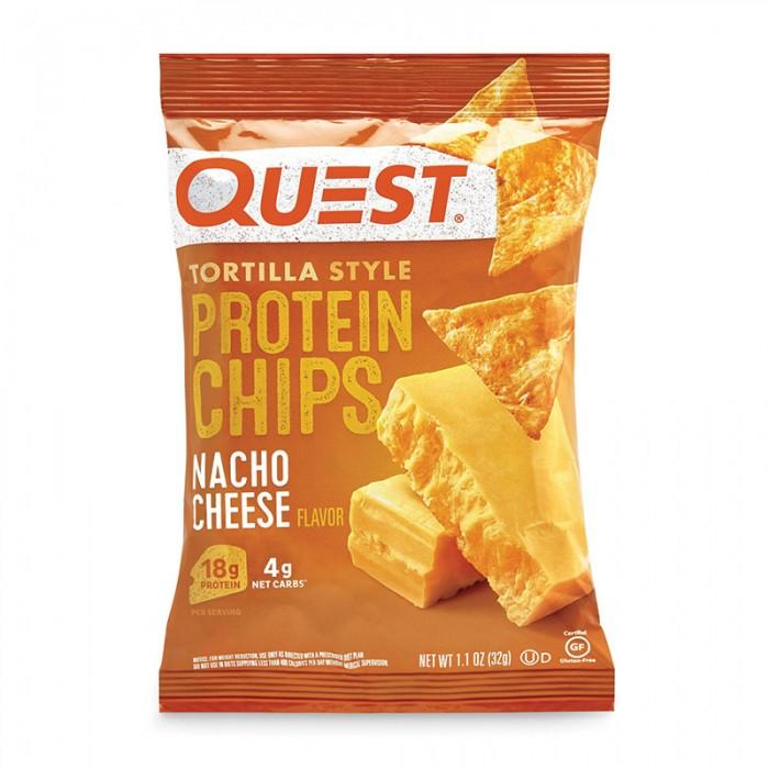 Quest Chipsuri tortilla cu aroma de branza nacho (32 grame), GNC