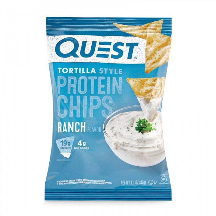 Quest Chipsuri tortilla cu aroma de ranch (32 grame), GNC