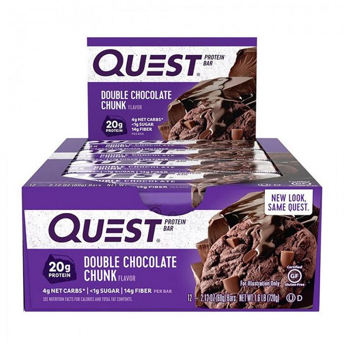 Quest Baton proteic cu ciocolata (60 grame), GNC
