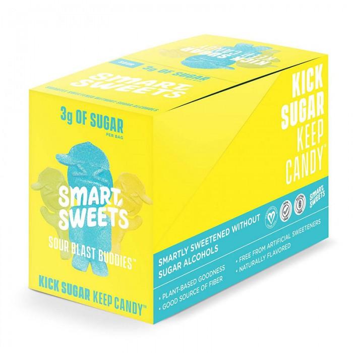 SmartSweets Prebiotice jeleuri cu aroma de fructe Sour Blast Budies (50 grame), GNC
