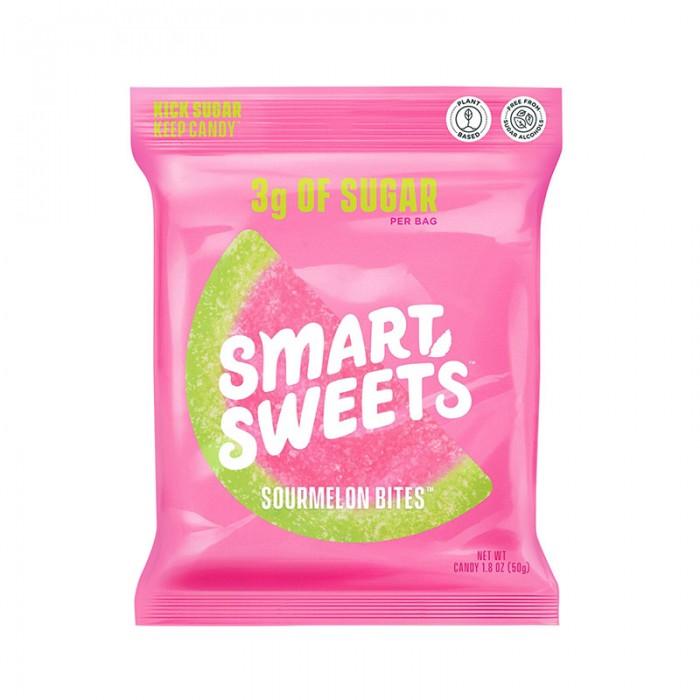 SmartSweets Prebiotice Sourmelon Bites cu aroma de pepene acrisor (50 grame), GNC
