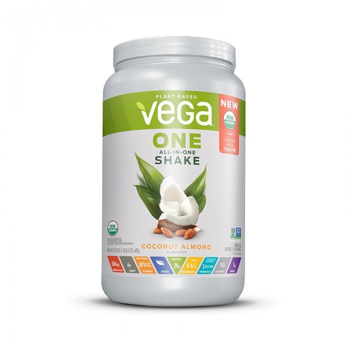 Vega One Proteina vegetala cu aroma de cocos si migdale (687 grame), GNC
