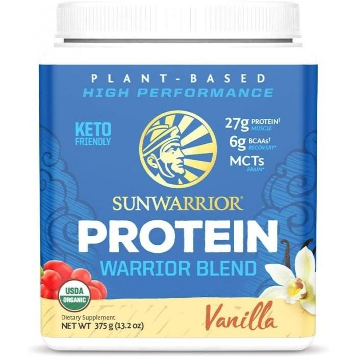 SunWarrior Proteina vegetala organica cu aroma de vanilie (375 grame), GNC