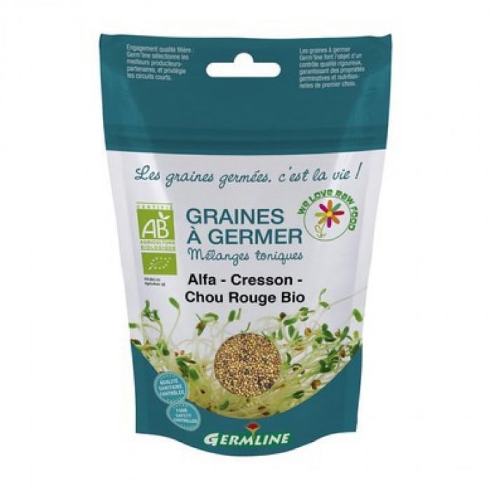 Mix alfalfa, creson, varza rosie pentru germinat bio (150 g)