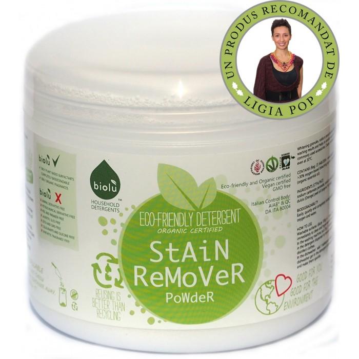 Detergent ecologic pentru scos pete pudra, Biolu (1100 grame)