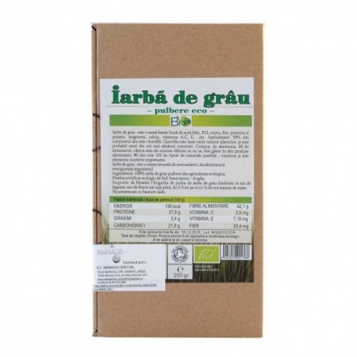 Iarba de grau bio - pudra (250 grame)