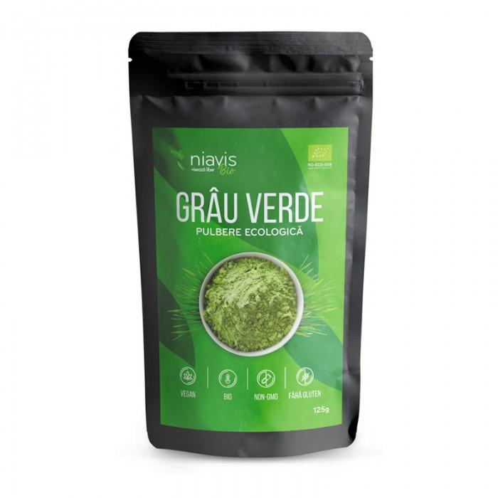 Grau verde pulbere ecologica/BIO (125 grame), Niavis