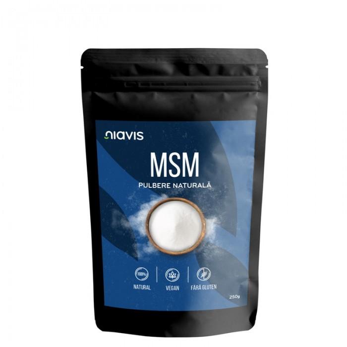 MSM pulbere 100% naturala (250 grame), Niavis