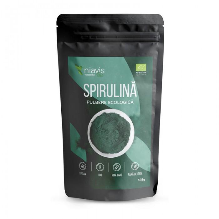 Spirulina pulbere ecologica/BIO (125 grame), Niavis