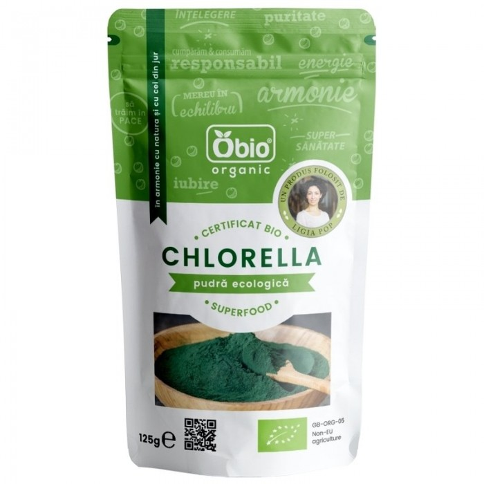 Chlorella pulbere bio (125 grame)