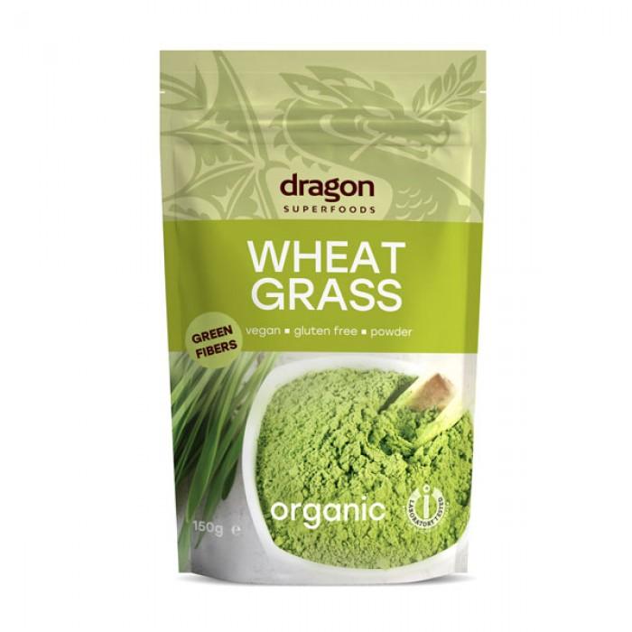 Iarba de grau pulbere raw bio (150 grame)