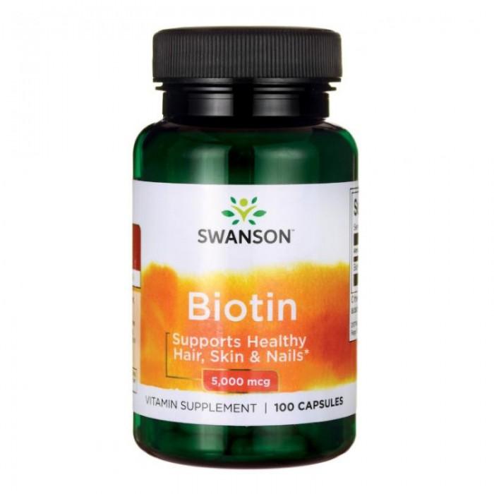 Vitamina B7 Biotina 5 mg (100 capsule), Swanson