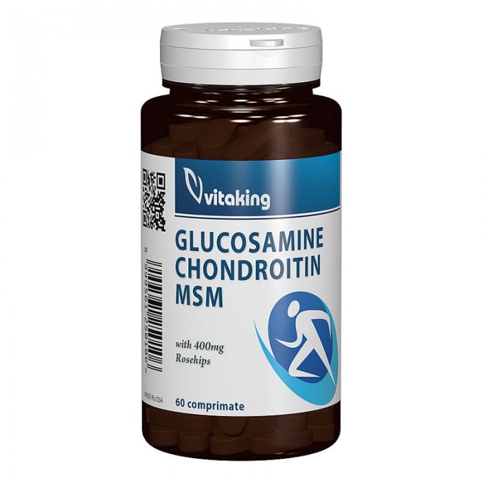 Glucozamina, Condroitina, MSM (60 comprimate), Vitaking