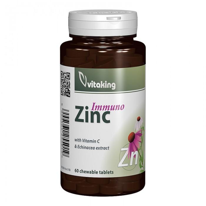 Immuno Zinc cu Echinaceea (60 comprimate), Vitaking