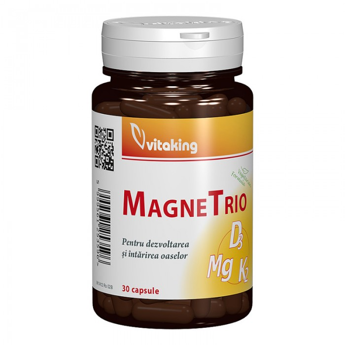 MagneTrio Magneziu, Vitamina K2 si Vitamina D3 (30 capsule), Vitaking