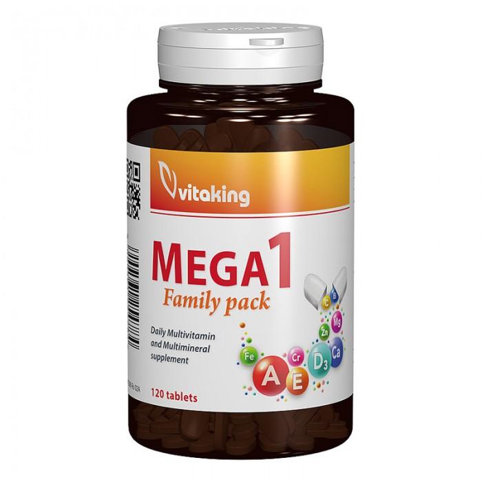 Multivitamina Mega 1 Family Pack cu minerale si folat (120 comprimate), Vitaking