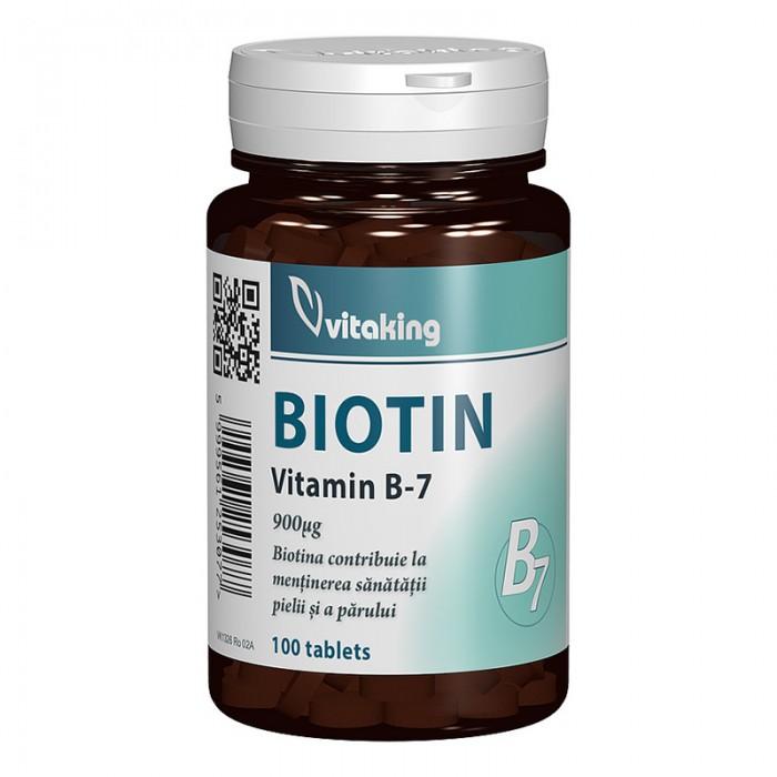 Vitamina B7 Biotina 900 mcg (100 comprimate), Vitaking