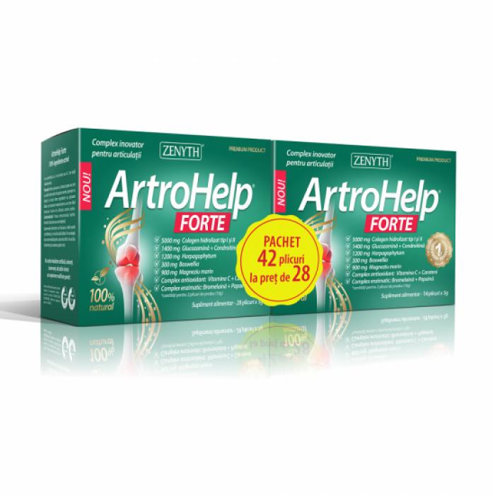 Pachet Promo ArtroHelp Forte 5 grame (42 plicuri la pret de 28), Zenyth Pharmaceuticals