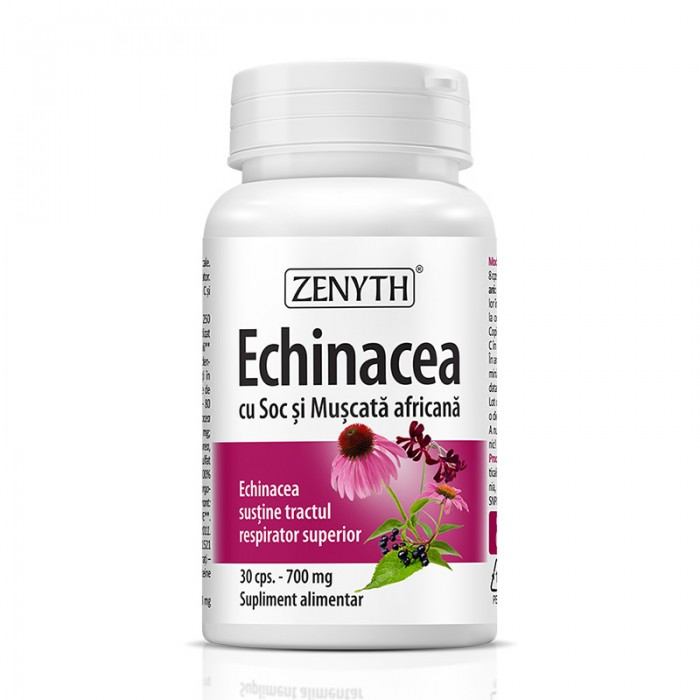 Echinacea cu soc si muscata africana (30 capsule), Zenyth Pharmaceuticals