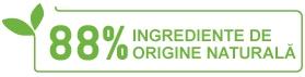 88% ingrediente de origine naturala